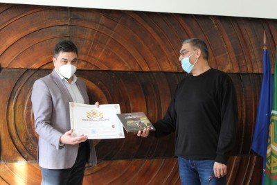 Mayor Ivo Dimov received a jubilee diploma from the Central Military District
